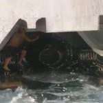 Un homme a risqué sa vie cache près des hélices d'un ferry