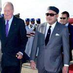 Arrivée au Maroc de roi Juan Carlos 1er d'Espagne