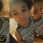 Une petite fille pleure pour les enfants syriens affamés