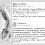 Après la tuerie de Charlie Hebdo, Isabelle Matic se convertit à l'Islam
