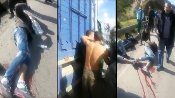 Un accident en direct d'un fourgon transportant des passager sur le toit (Vidéo)