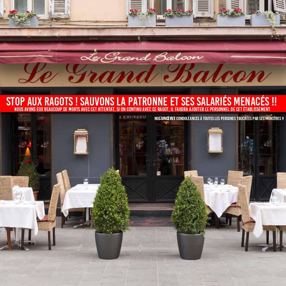 soutien au restaurant le grand balcon apr s l attentat du 14 juillet nice. Black Bedroom Furniture Sets. Home Design Ideas