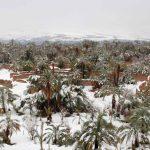Maroc : le désert recouvert de neige