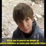Le désespoir de ce petit syrien qui n'a pas mangé depuis 3 jours